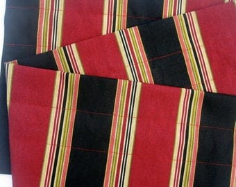 DIGNITY Valance Curtains Red Black Stripes 44 inches wide Kitchen Curtain Valance Curtains Window Treatments Red Valance Curtain
