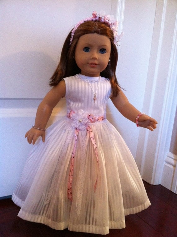 Organza Doll Dress 2014Couture Collection  - fits 18 inch American Girl Style Doll - 1