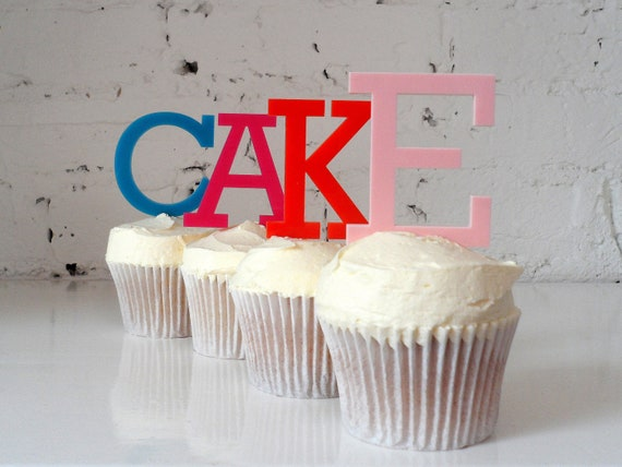 Letter Cake toppers by Miss Cake on Etsy