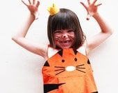 Costume de tigre filles robe-up