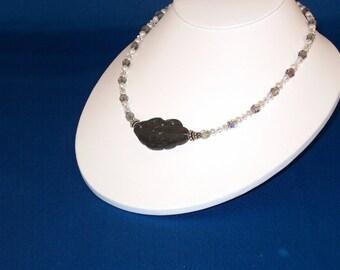 Swarovski Crystals, Pearls & shell focal