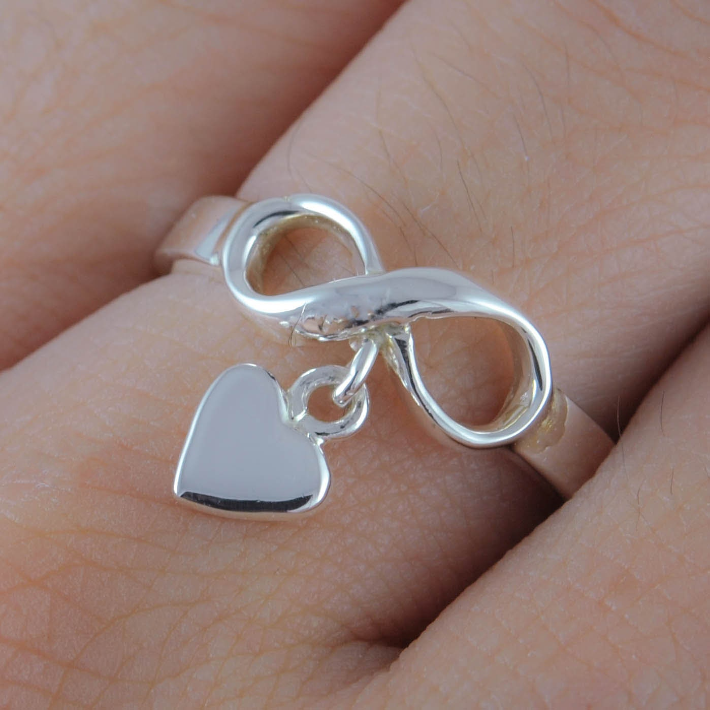 infinity ring infinity knot ring best friend ring