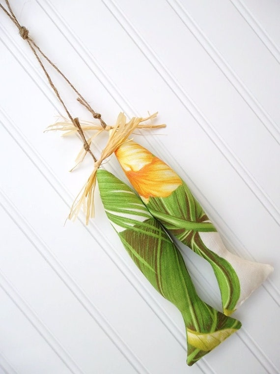 Polynesian Decor - Tropical Tassel - Beachy Door Hanger - Cyber Monday Etsy Sale