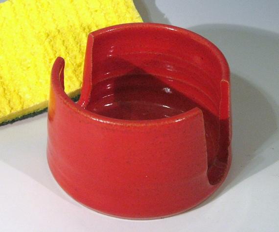 Pottery Sponge Holder, Handmade Ceramic Kitchen Sponge Caddy, Housewares