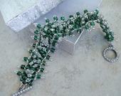Handmade Bead Woven Jewelry Bracelet Glass Beads Artisan Jewelry handmade OOAK Boho beaded jewellery