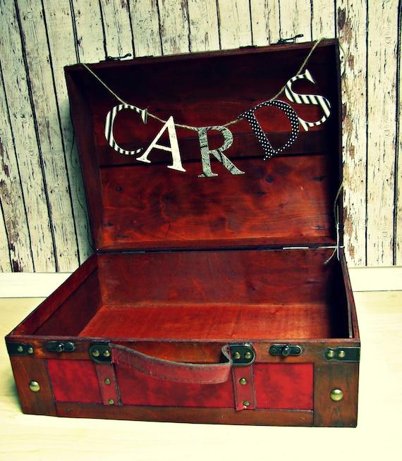 LARGE Wedding Card Holder-Wedding Card Trunk-Wedding Card Box-Vintage Wood Trunk