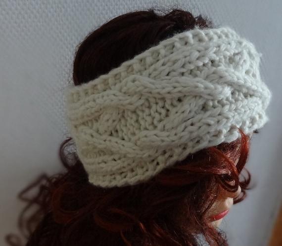 Handmade Knit Cable Headband Plait  Knitted Headband Hand knit headband, head wrap, ear warmer  accessories handmade