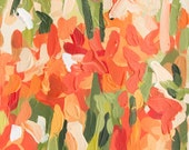 "Original Art // Tulips (Floral no. 4) // 5.5"" x 10.5"" // Acrylic Painting on Paper by Joanne Hastie"