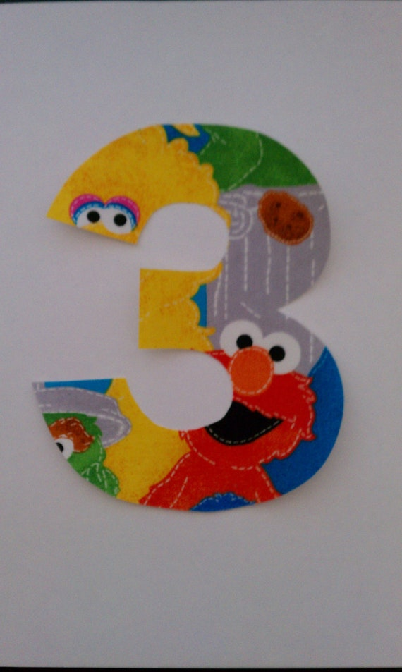Sesame Street Number Iron On No Sew Applique