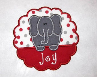 Elephant Applique Personalized Shirts for Girls, Elephant Shirt, Mascot Shirts, Football Spirit Shirts