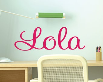 Girls Name Wall Decal Personalized Wall Stickers for Girls Bedroom - 35 colors available.