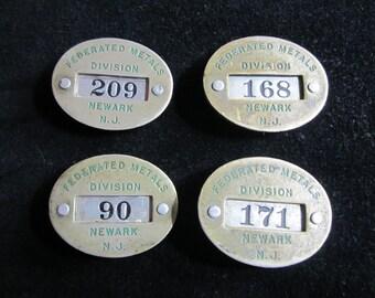 Vintage Metal Employee ID Badges