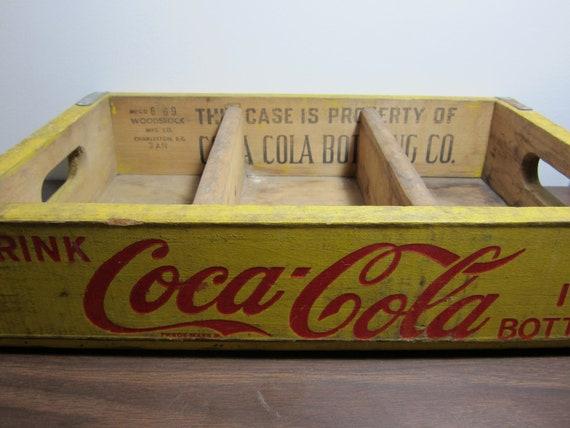 Vintage Yellow Coca-Cola Crate PRICE REDUCED