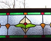 stained glass window panel - classic victorian  arts -  Free Shipping
