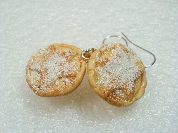 Mince Pie Earrings. Polymer Clay.