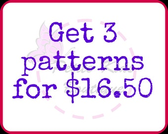 Get 3 patterns for USD16.50 - Bundle promo - PDF patterns & Instruction - Easy sew Dress, Skirts for Girls and toddler