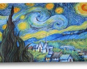 MTG CCG Magic the Gathering Playmat Featuring Vincent Van Gogh's Starry Night