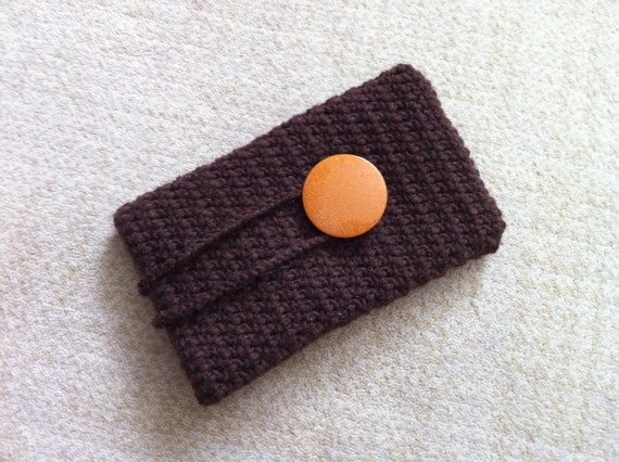 Crochet IPhone Case With Button, Cell Phone Pouch, Usa Seller
