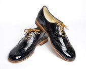 black patent oxford shoes - FREE WORLDWIDE SHIPPING