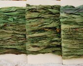 Pale Green Sari Silk Ribbon