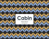 Custom Listing --5-- Cabin Pattern Stencil - Tiny