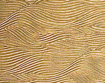 "Textured Brass Sheet 6"" X 2.5"" (Br79) Large Bracelet Size Texture Metal Use With Your Rolling Mill - 24 Gauge - Jewelry Metal Emboss Metal"