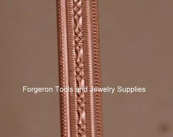 Copper Bracelet Pattern Wire - Mini Beaded 1 Ft  - Make Rings Bracelets or Earrings - Embellish Jewelry Designs -