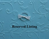 Reserved Listing for Ceci
