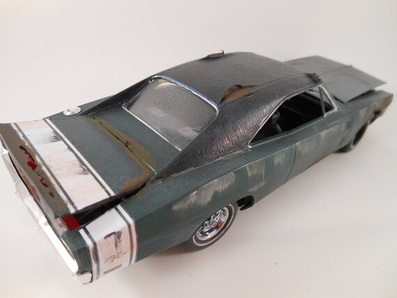1969 Dodge Charger 1/24 scale model car in green