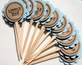 24 Little Man Cupcake Toppers. Cake Decoration. Party Favor.