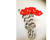 12 Vampire Lips on Paper Straws for a Fun Eco-Friendly Party