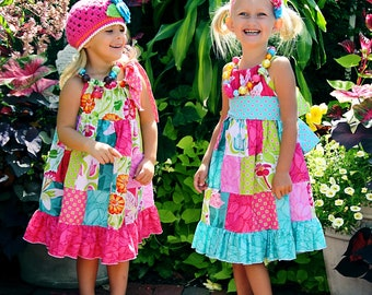 Claire's Patchwork Pillowcase Dress PDF Pattern size 18 months to size 6