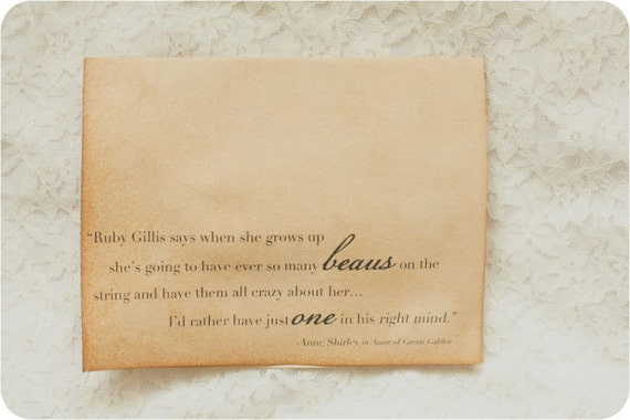 Beaus Anne Of Green Gables Card