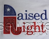 "Applique ""Raised Right"" Kitchen Towel"