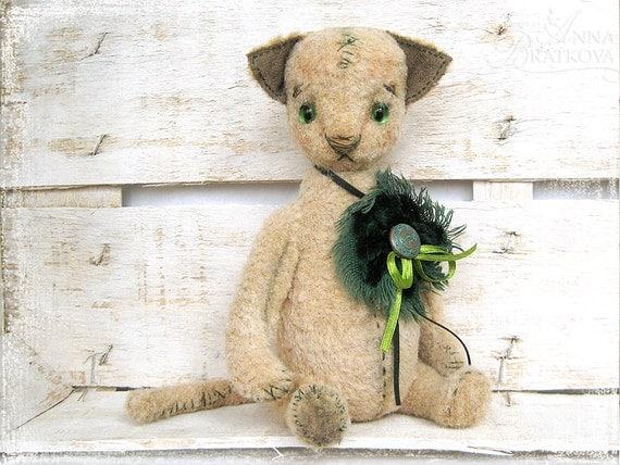 SALE Artist Teddy Cat Kot 9 inch