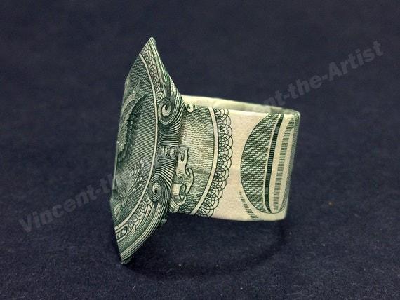Origami Heart Ring Dollar Bill