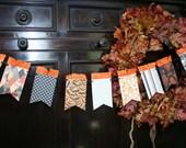 Halloween Pennant  Banner Holiday Garland