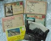 ADDITIONAL 10% OFF...SALE  5 Misc Vintage Postcard Folders plus extras