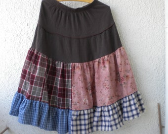 on sale eco tattered gypsy skirt funky fairy woodland long ruffle skirt