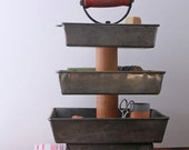 3 Tier Desk Supply Organizer Caddy from Repurposed Materials