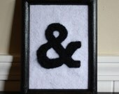 Needle Felted Ampersand in Rockwell