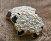 Fuzzy Sheep Decorated Sugar Cookies - Barn - Farm Edibles