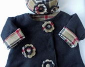 Toddler Girl London Plaid Reversible Jacket and Hat