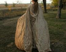 Long Velvet Cloak--- Made To Order--- Long Pointed Hood