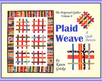 Plaid Weave Quilt Pattern, PDF Quilt Pattern, Tutorial, Scrap Quilt, Modern, Upcycle, Recycle