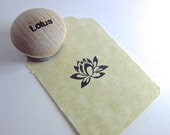 Lotus X-Small Rubber Stamp featured on Etsy Front Page Y010