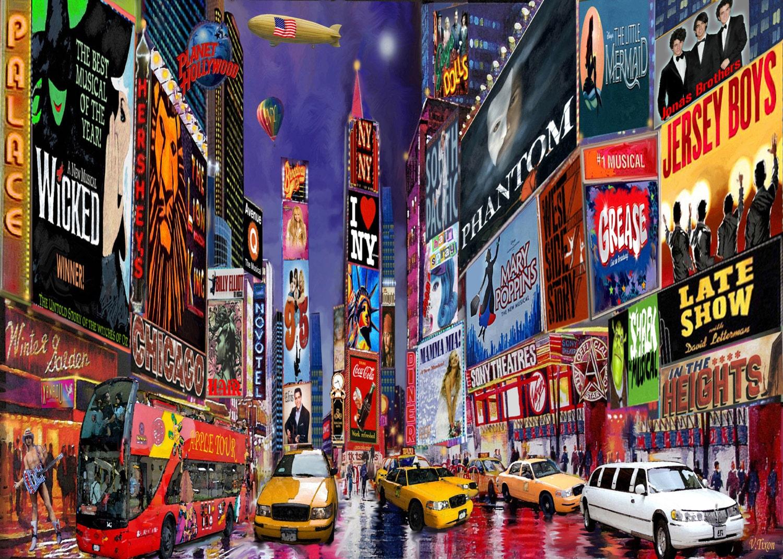 times square new york city framed art print on by. Black Bedroom Furniture Sets. Home Design Ideas