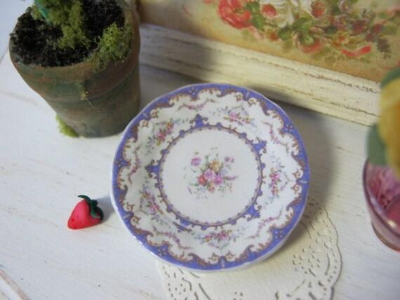 Lavender Sevres Dollhouse Plate