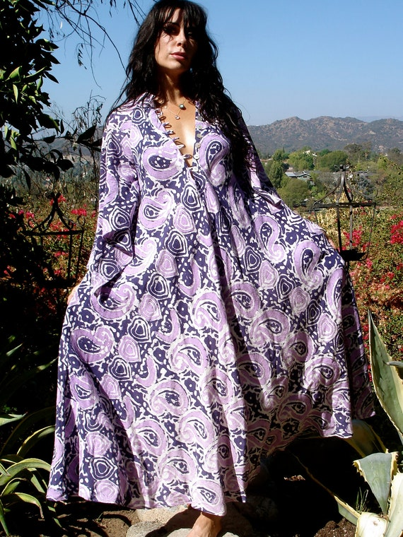 Purple Passion Gorgeous Fabric One of a Kind Vintage Indian Cotton Circa 1960s 1970s