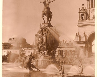 Fountain of Energy, Panama-Pacific Exposition Photograph by the Cardinell Vincent Co.